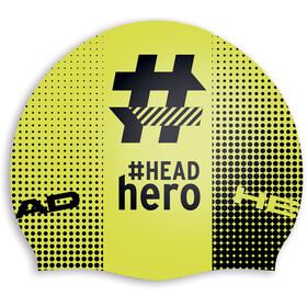 Head Hashtag Silcone Suede - Bonnet de bain - jaune/noir